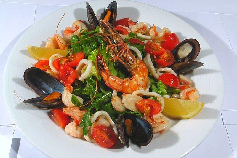 Салаты с морепродуктов рецепты фото